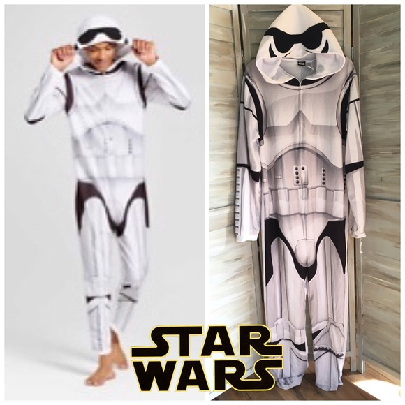 Stormtrooper Star Wars Jumpsuit with Hood One Piece Jumpsuit Men/'s Suit New